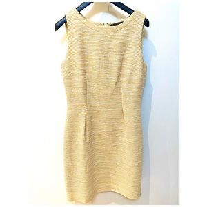Elie Tahari Sleeveless Tweed Sheath Dress